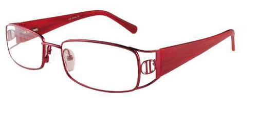 Calabria Designer Eyeglasses 826 Red :: Custom Left & Right Lens