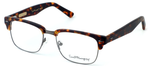 Ernest Hemingway Eyewear Collection 4629 in Matte Tortoise & Gunmetal :: Rx Bi-Focal