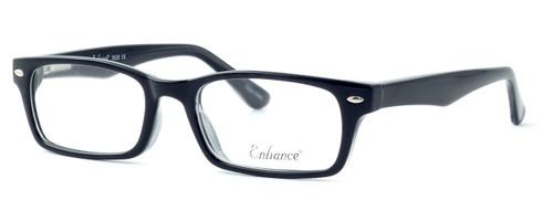 Enhance Optical Designer Eyeglasses 3928 in Black-Crystal :: Custom Left & Right Lens