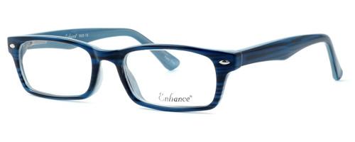 Enhance Optical Designer Eyeglasses 3928 in Deep-Blue :: Custom Left & Right Lens
