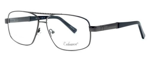 Enhance Optical Designer Eyeglasses 3920 in Dark-Gunmetal :: Progressive