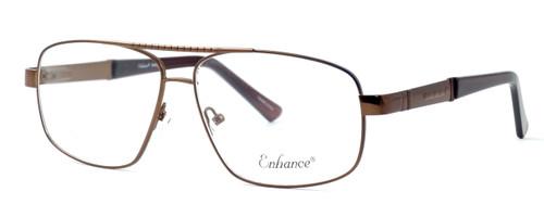 Enhance Optical Designer Eyeglasses 3920 in Matte-Coffee :: Progressive