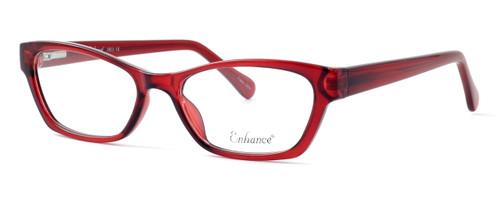 Enhance Optical Designer Eyeglasses 3903 in Burgundy :: Rx Bi-Focal