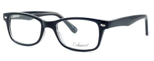 Enhance Optical Designer Eyeglasses 3926 in Black-Crystal :: Rx Bi-Focal