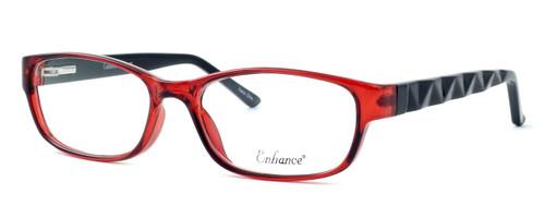 Enhance Optical Designer Eyeglasses 3959 in Burgundy-Black :: Rx Bi-Focal