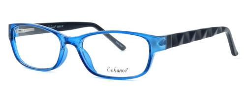 Enhance Optical Designer Eyeglasses 3959 in Cobalt-Black :: Rx Bi-Focal