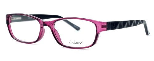 Enhance Optical Designer Eyeglasses 3959 in Purple-Black :: Rx Bi-Focal