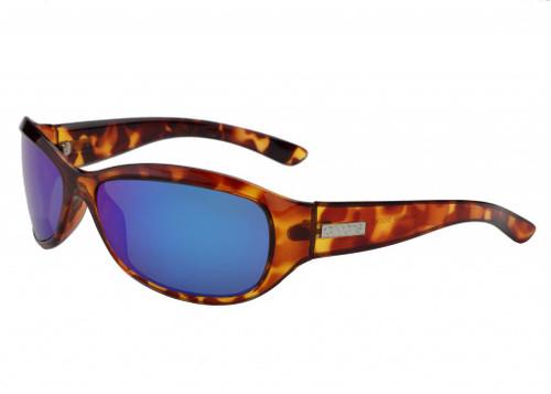Ono's™™ Polarized Sunglasses: Harbor Docks in Tortoise & Blue Mirror