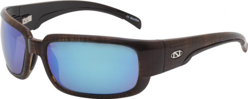 Ono's™™ Polarized Sunglasses: Loon in Brown & Blue Mirror