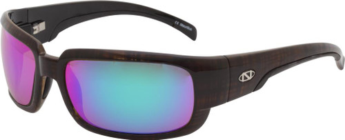Ono's™™ Polarized Sunglasses: Loon in Brown & Green Mirror