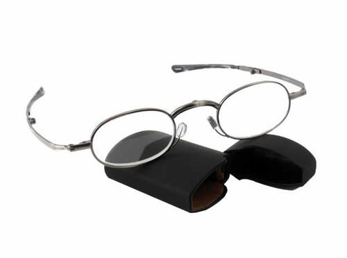 Spec-Fold Folding Ultra-Compact Designer Reading Glasses w/ CORNING GLASS LENSES