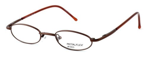 Calabria MetalFlex Designer Eyeglasses 1003 in Brown :: Rx Bi-Focal