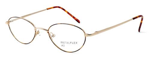 Calabria MetalFlex Designer Eyeglasses O in Gold in Brown :: Rx Bi-Focal