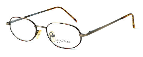 Calabria MetalFlex Designer Eyeglasses P in Gold & Amber :: Rx Bi-Focal
