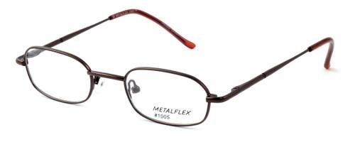 Calabria Kids Fit MetalFlex Designer Reading Glasses 1005 in Brown