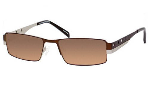 Dale Earnhardt, Jr. 6707 Designer Sunglasses in Brown-Silver