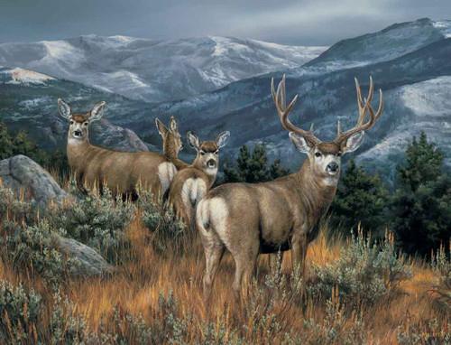 Deer Hunting Theme 240-34a-3 Artwork Micro Fiber Cleaning Cloth