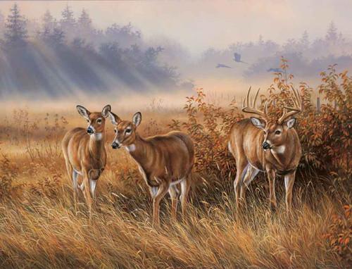 Deer Hunting Theme 240-34a-5 Artwork Micro Fiber Cleaning Cloth