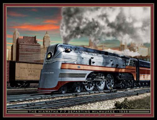 Train Themed 240-32-2 Artwork Micro Fiber Cleaning Cloth