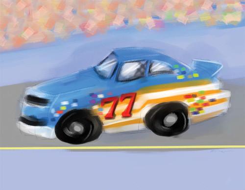Race Car 240-01d-5 Artwork Micro Fiber Cleaning Cloth