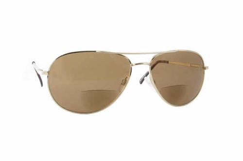 Calabria Hart Metal Aviator Bi-Focal Reading Sunglasses