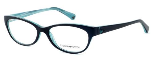 Emporio Armani Designer Reading Glasses EA3008-5052 in Black Azure