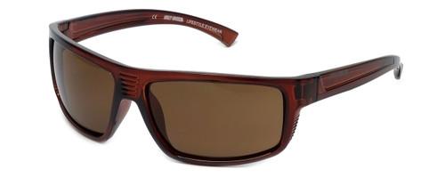 Harley-Davidson Official Designer Sunglasses HD0110V-48E in Brown Frame with Amber Lens