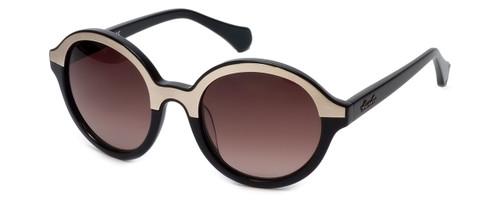 Kenneth Cole Designer Sunglasses KC7105-33F in Black-Gold Frame with Amber Gradient Lens