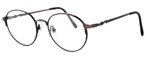 Fashion Optical Designer Eyeglasses E303 in Antique Brown & Demi Brown :: Progressive