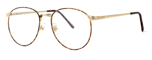 Fashion Optical Designer Eyeglasses E788 in Gold Amber 51mm :: Progressive