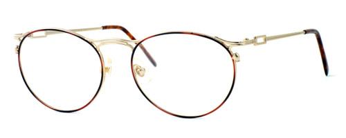 Regency International Designer Eyeglasses New York in Amber 51mm :: Rx Bi-Focal