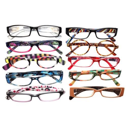 Ladies Designer Reading Glasses Variety Pack :: SILVER