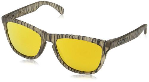 Oakley Designer Sunglasses Frogskins in Matte Sepia & 24K Iridium Lens (OO9013-67)
