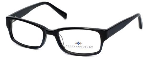 Argyleculture Designer Eyeglasses Hendrix in Black-Blue :: Custom Left & Right Lens