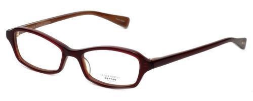 Oliver Peoples Designer Eyeglasses Cylia SISYC in Burgundy 45mm :: Custom Left & Right Lens