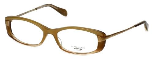 Oliver Peoples Designer Eyeglasses Idelle TZGR in Topaz Gradient 50mm :: Custom Left & Right Lens