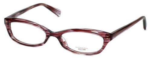 Oliver Peoples Designer Eyeglasses Marceau PH in Purple Horn 51mm :: Custom Left & Right Lens