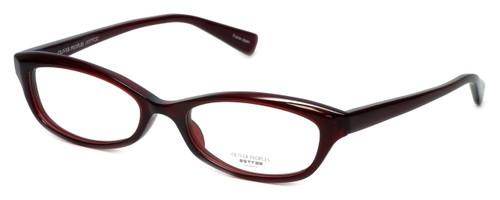 Oliver Peoples Designer Eyeglasses Marceau SI in Burgundy 51mm :: Custom Left & Right Lens