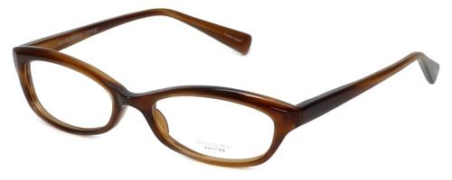 Oliver Peoples Designer Eyeglasses Marceau SYC in Brown Horn 51mm :: Custom Left & Right Lens