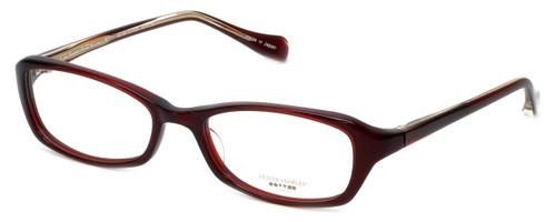 Oliver Peoples Designer Eyeglasses Marcela SI in Burgundy 51mm :: Progressive