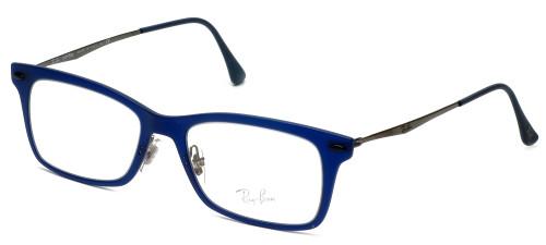 Ray-Ban Designer Eyeglasses RB7039-5451 in Matte-Blue 51mm :: Custom Left & Right Lens