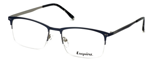 Esquire Designer Eyeglasses EQ1519 in Matte-Blue-Silver 54mm :: Rx Single Vision