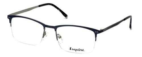 Esquire Designer Eyeglasses EQ1519 in Matte-Blue-Silver 54mm :: Rx Bi-Focal