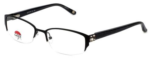 Silver Dollar Designer Eyeglasses Café 3175 in Caviar 51mm :: Rx Single Vision