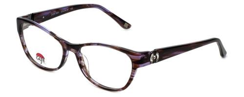 Silver Dollar Designer Eyeglasses Café 3201 in Brown Lilac 53mm :: Rx Single Vision