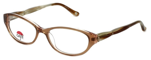 Silver Dollar Designer Eyeglasses Café 3484 in Fawn 53mm :: Progressive
