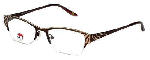 Silver Dollar Designer Eyeglasses Café 3210 in Cinnamon 49mm :: Progressive