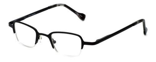 Cinzia Designer Eyeglasses Fine Print 01 in Black 44mm :: Rx Single Vision