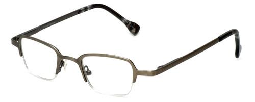 Cinzia Designer Eyeglasses Fine Print 02 in Gunmetal 44mm :: Rx Single Vision