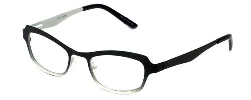 Cinzia Designer Eyeglasses Hey Doll C1 in Black White 46mm :: Rx Single Vision